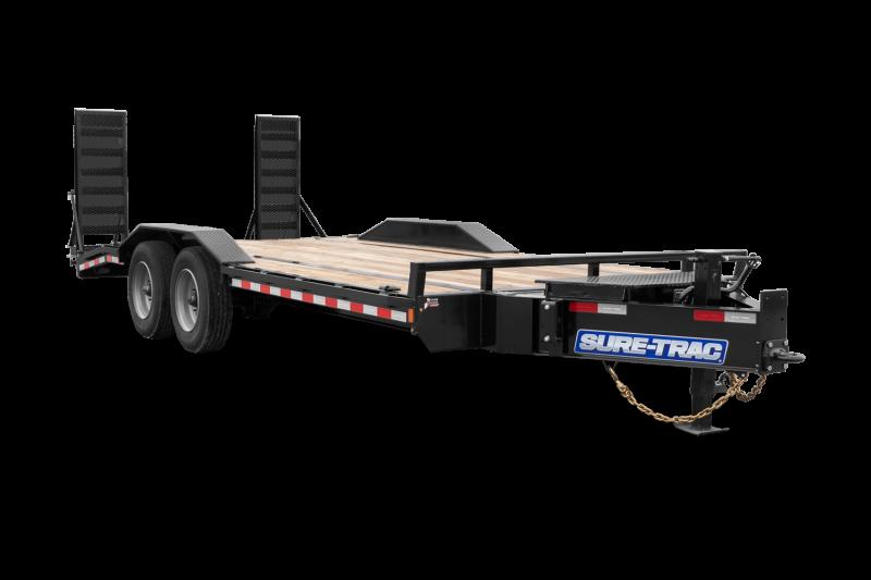 2021 Sure-Trac ST10222FWET-B-140 Equipment Trailer
