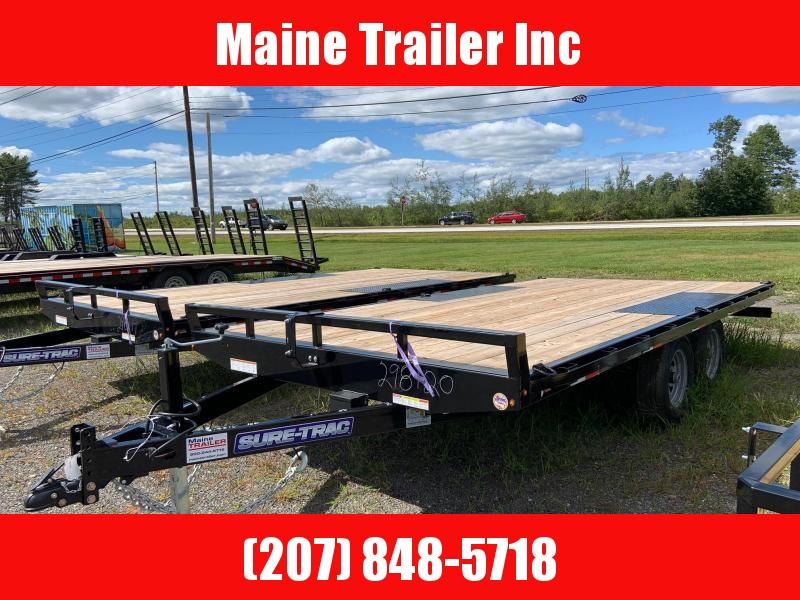 2020 Sure-Trac ST10216TDO2A-B-100 Flatbed Trailer