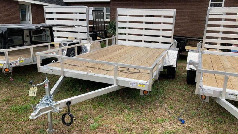 2021 Quality Steel and Aluminum 7x12 landscape Utility Trailer