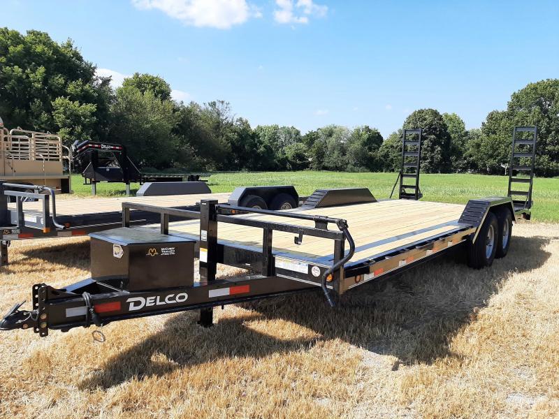 Delco 102x20'+2' Dovetail Bumper Pull 14000# Flatbed Trailer