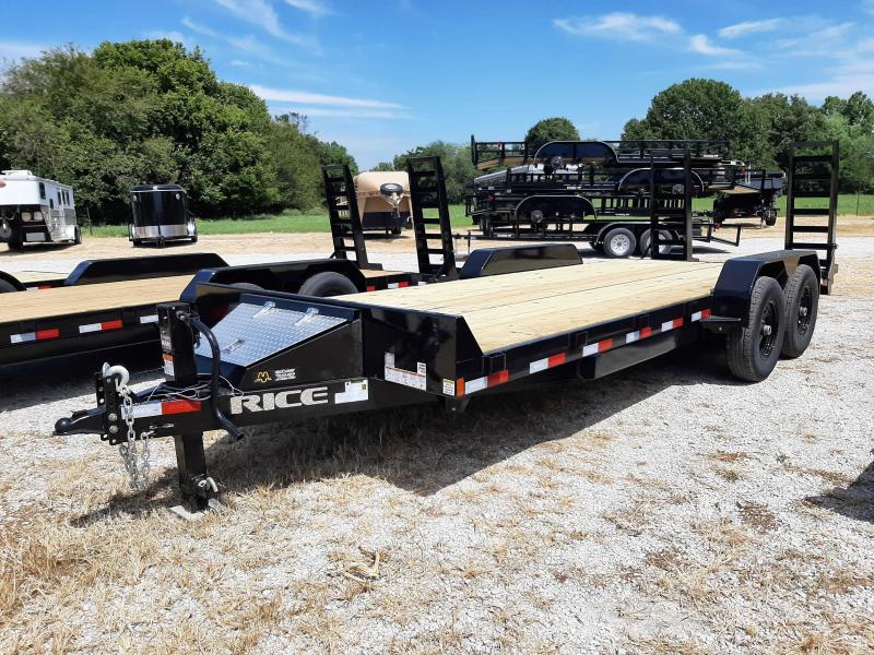 Rice 82 x 18+2 14000# Bumper Pull Heavy Duty Flatbed Trailer