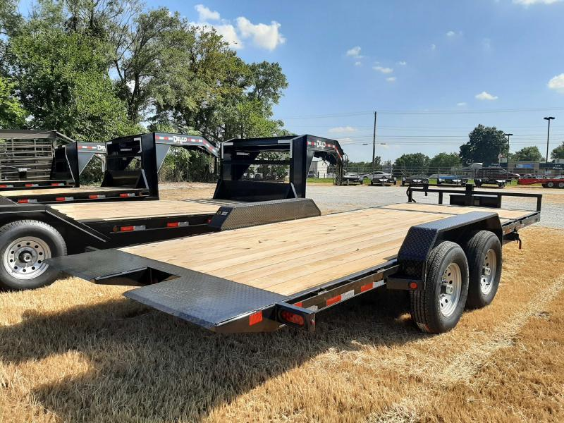 Delco 83 x 16'+4' Dovetail Bumper Pull 14000# POWER Partial Tilt Flatbed
