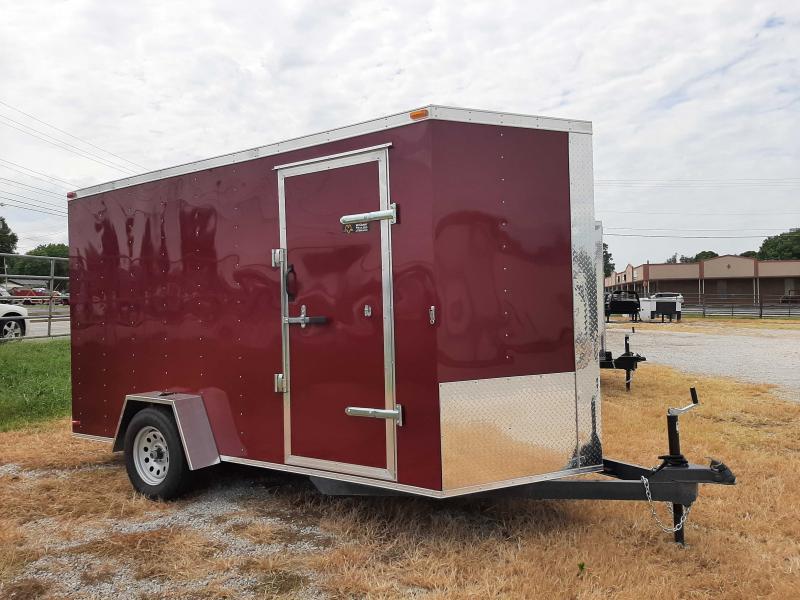 Box Cargo 6' x 12'  Bumper Pull Enclosed Cargo Trailer