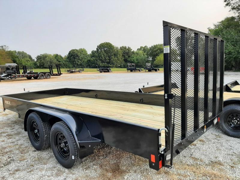 Rice 76 x 16' Tandem Stealth Bumper Pull Black Utility Trailer