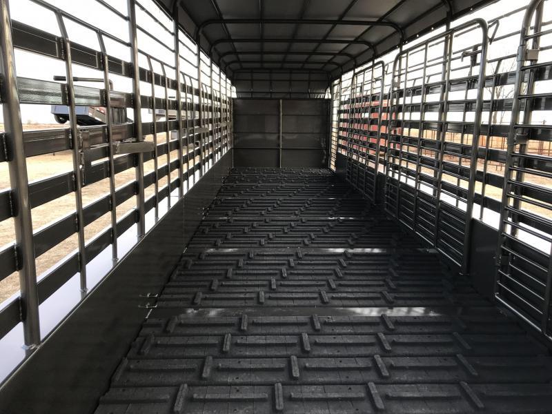 2020 TexLine 2020 TexLine 6-8x24 Tarp Top Cattle Trailer Livestock Trailer