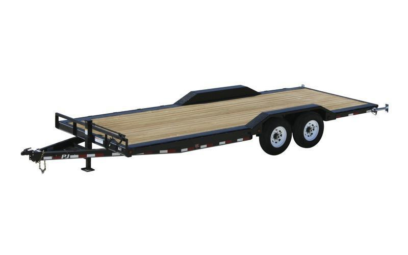 "2021 PJ Trailers 24' x 6"" Channel Super-Wide Equipment Trailer"