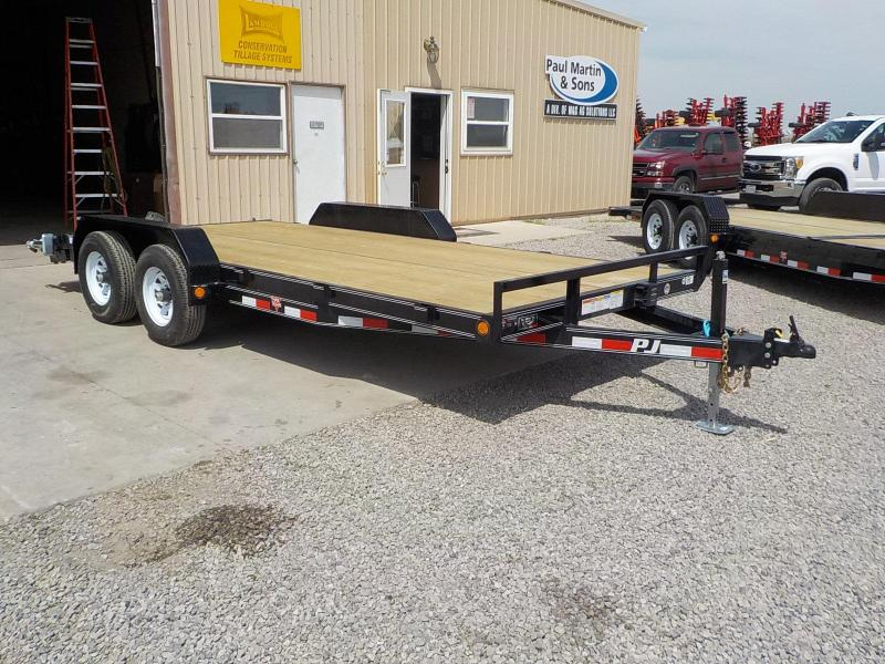 "2019 PJ Trailers 18'x5"" Channel Equipment Trailer"