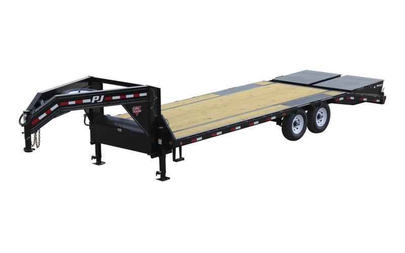2021 PJ Trailers 30' Low-Pro Flatdeck with Singles Equipment Trailer