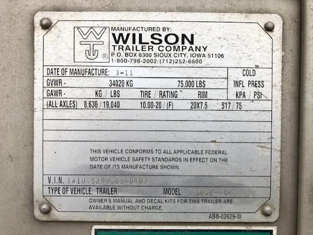 2012 Wilson Trailer Company Silver Star Livestock