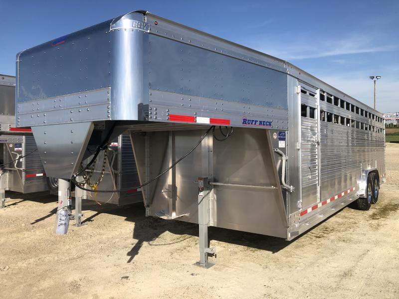 2021 EBY 26'x8'x6'6 Ruff Neck Gooseneck Livestock Trailer