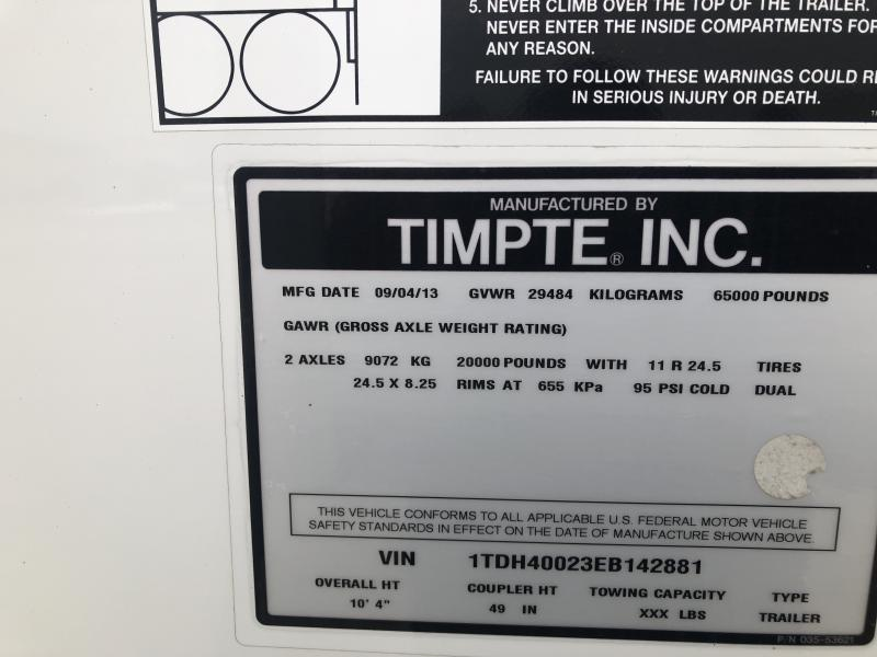 2014 Timpte 4066 Grain Hopper