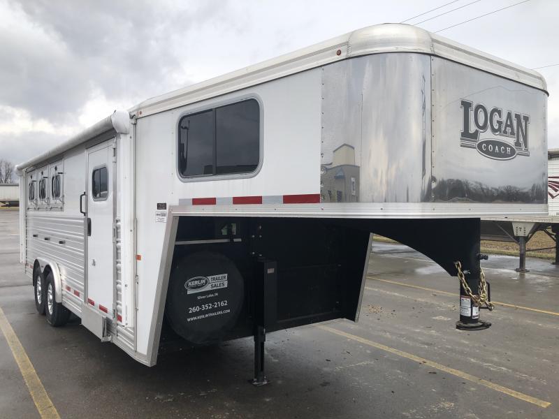 2017 Logan Coach 3-Horse Gooseneck Trailer