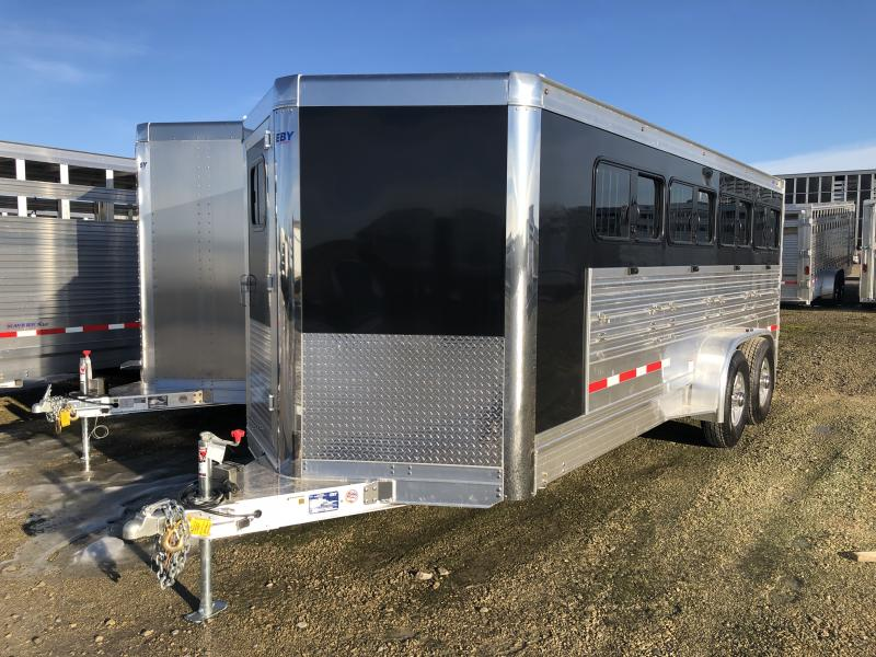 "2020 EBY 19' x 6'11"" x 6'3"" Maverick Combo Bumper Hitch Trailer"