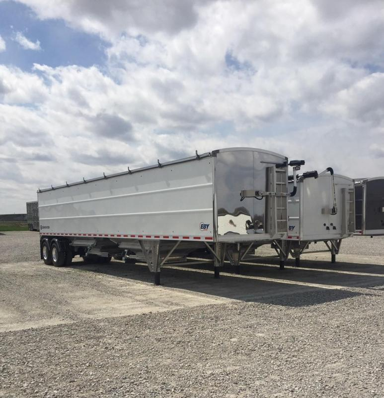 2021 EBY EBY Generation Grain Trailer 42x96x78 Painted White Sides- SS Front &amp- Rear- Mid Clearance Tubs- Disc Brakes  Semi Grain Trailer