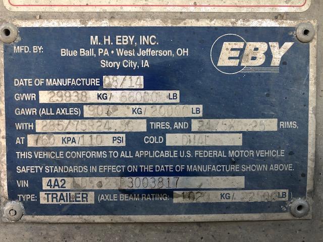 2015 EBY 53' Hog Friendly Combo Spread Axle