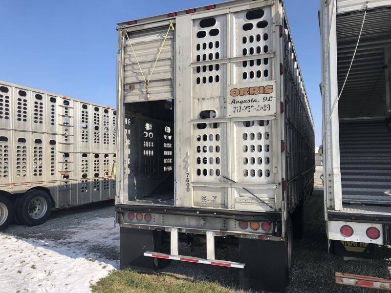 2008 Barrett Shallow Drop Livestock Semi