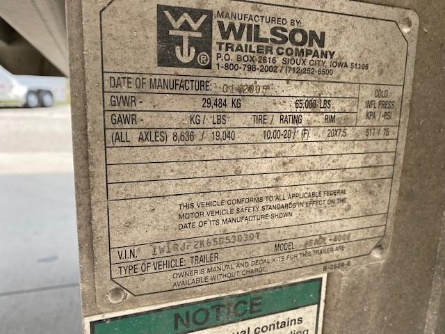"""2005 Wilson 53'x102""""x13'6"""" Drop Floor"""