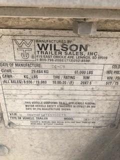 """2010 Wilson 43'x96""""x66"""" Hopper"""