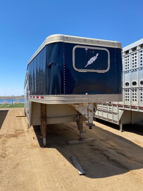 2013 Featherlite Gooseneck Ground Load Livestock Trailer