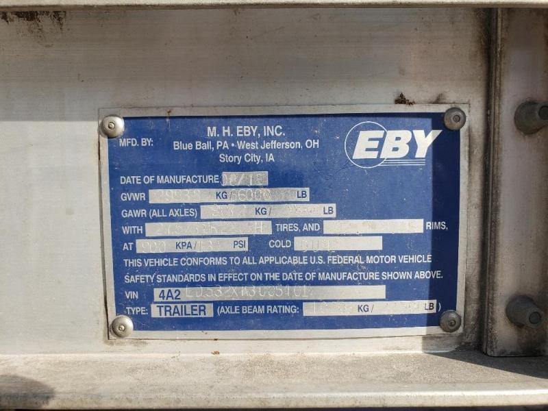 "2019 EBY Bull Ride 53'x102""x13'6"" Spread 1/2 rail in belly"