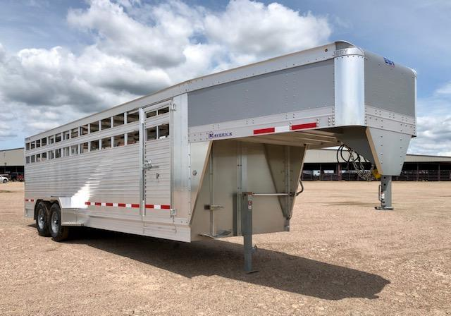 "2021 EBY 24'x6'11""x6'6"" Limited Edition Maverick Livestock Trailer"