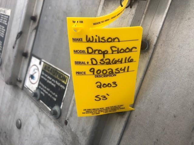 2003 Wilson Trailer Company Drop Floor Livestock