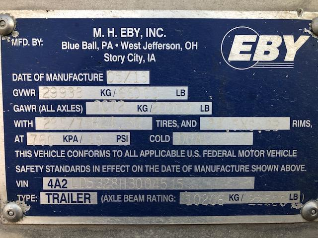 2017 EBY 53' Hog Friendly Combo Spread Axle