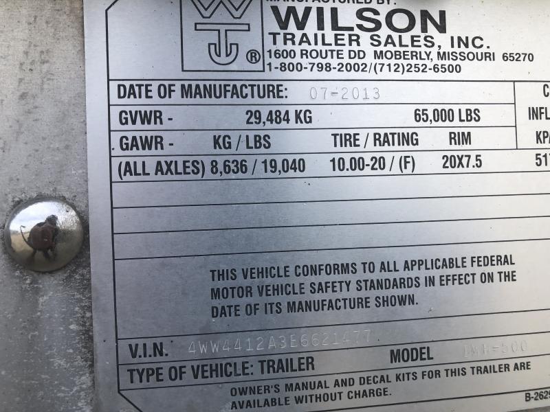 2014 Wilson Trailer Company DWH 500 Grain Hopper