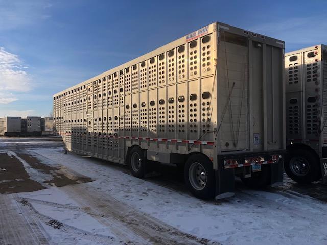 2014 Eby 53' Spread Axle Bullride Livestock Semi Trailer