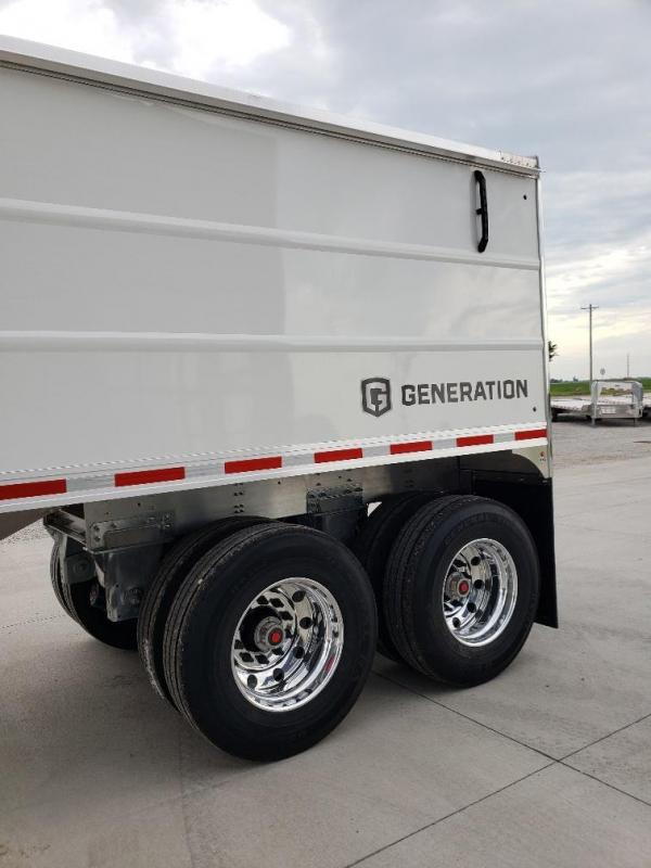 "2021 EBY Generation 42'x96""x66"" White- Base Grain Trailer"