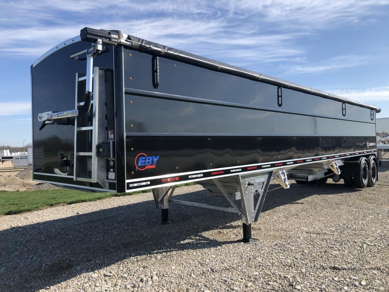 "2021 EBY Generation 40' x 96"" x 72"" Pre Painted Black Grain Trailer"