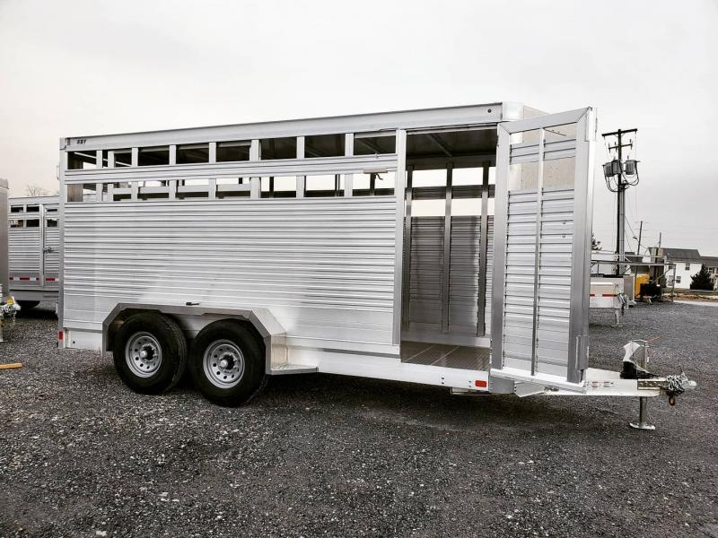 "2022 EBY 16'x6'5""x7' Maverick LS BH Slat B Livestock Trailer"