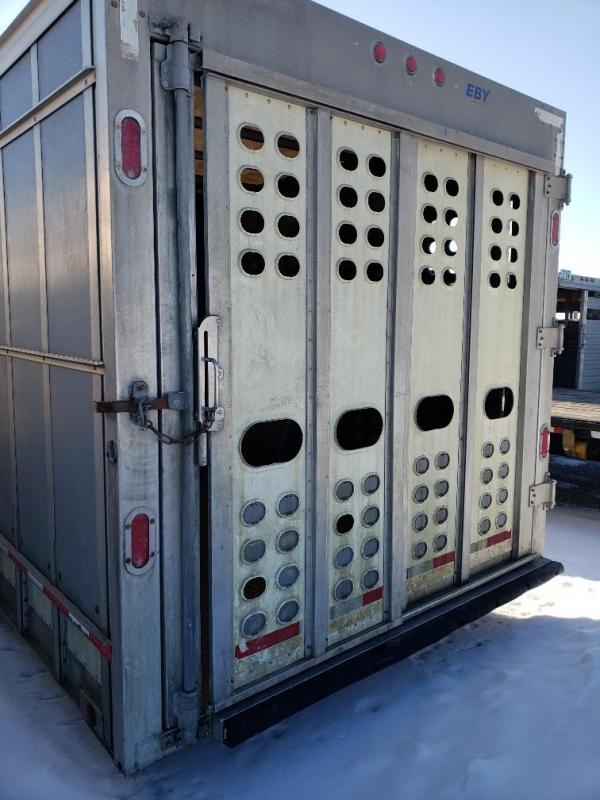 "2018 EBY Ruff Neck 35'x8'x7'6"" Double Deck Livestock Trailer"