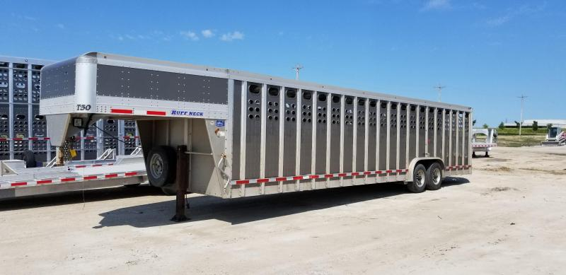 2017 EBY Ruff Neck 32'x8' Livestock Trailer- Gun Metal Gray