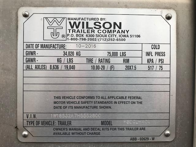 Used 2017 Wilson 53' Hog Friendly Spread