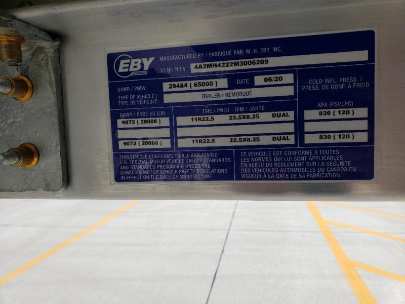 "2021 EBY Generation 42'x96""x66"" White Grain Hopper"