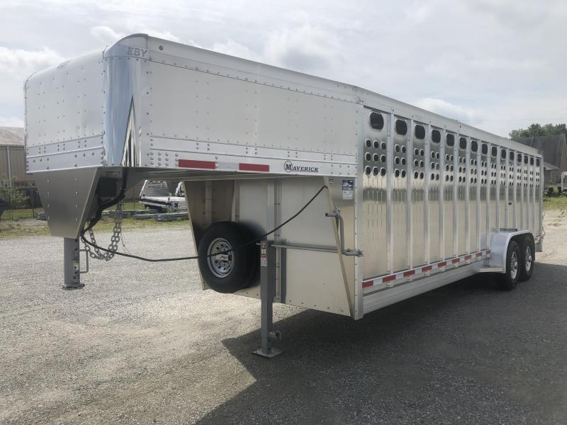 """2020 Eby 24'x7'1""""x6'6"""" PP MAV GN, PPE, (1) ROLLING GATE FRT 1/2, (1) FS SPT 8' FROM REAR  GN Livestock"""