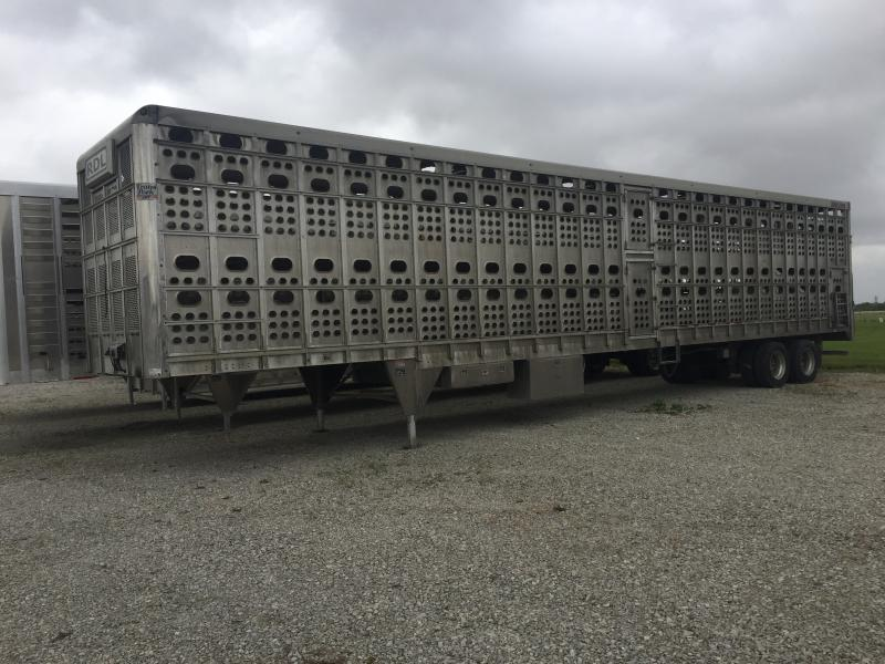 "USED 2016 EBY 53' x 102"" x 13'6""  TRANSPORK  Semi Livestock Trailer"