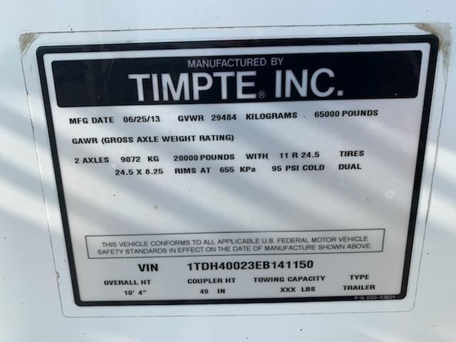 2014 Timpte 4066 Grain Hopper
