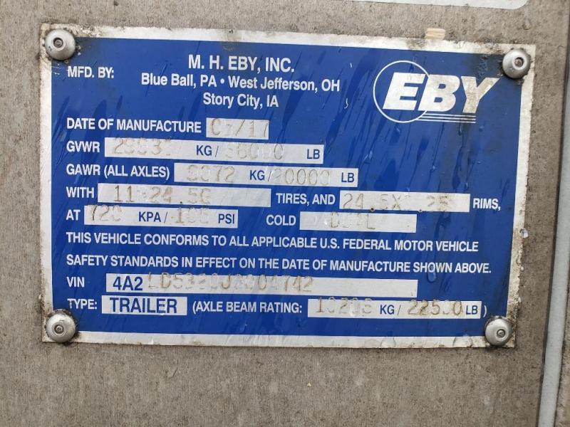 """2018 EBY Bull Ride 53'x102"""" Spread Axle- Hog Friendly"""