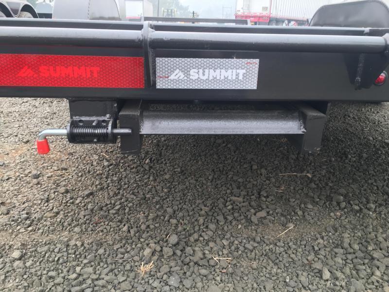2022 Summit Cascade Flat Bed CAR HAULER C722TA4 14K Equipment Trailer