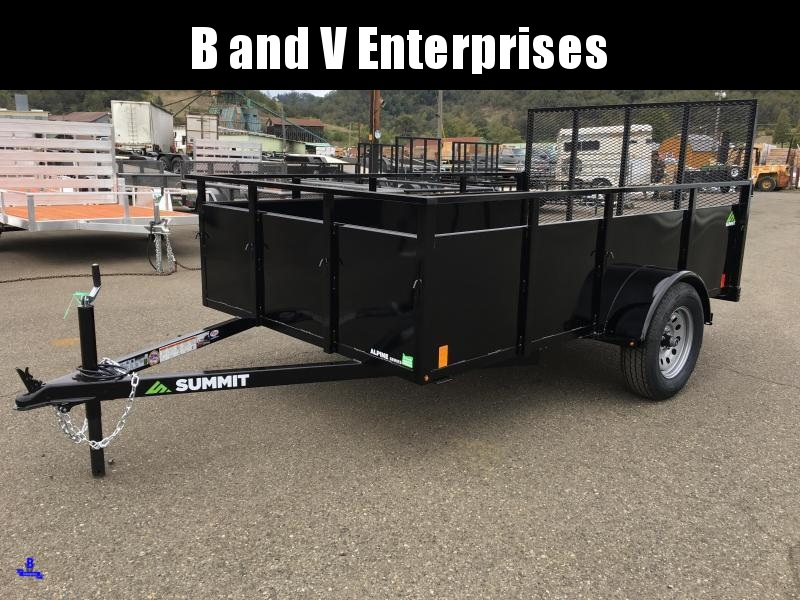 2021 SUMMIT ALPINE AU610SA 6X10 BOX UTILITY TRAILER