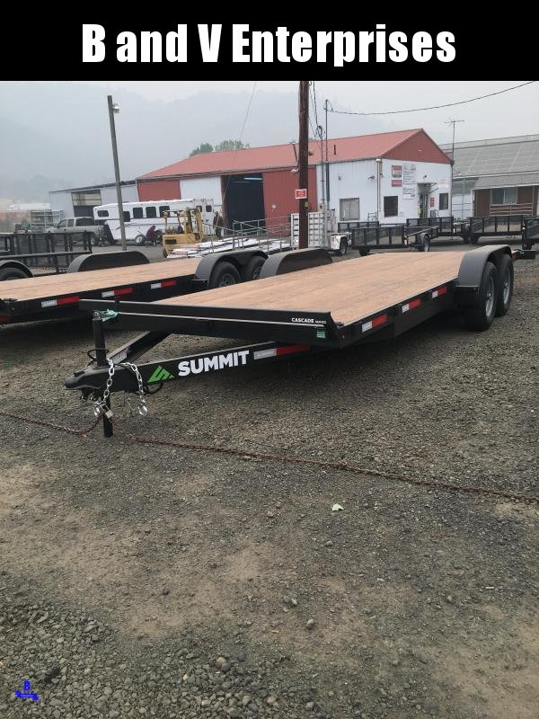 2021 Summit Cascade Flat Bed CAR HAULER CU720TA3 10K Equipment Trailer
