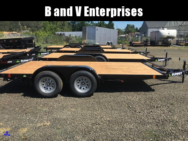 2020 SUMMIT AFB714TA2 ALPINE FLATBED STORED RAMPS 7K