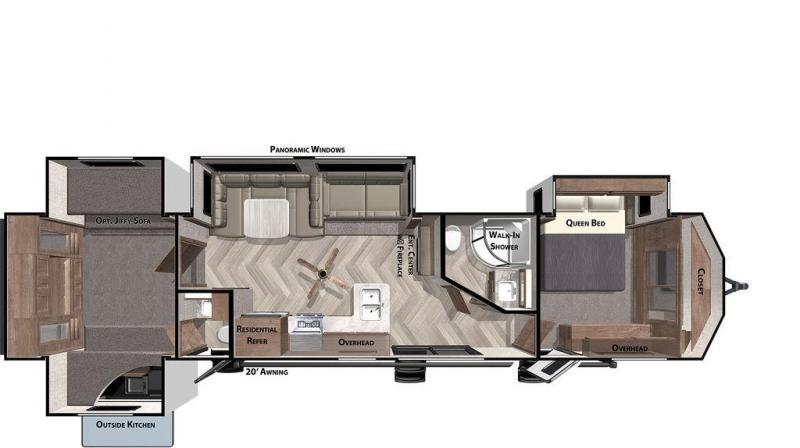 2021 Forest River Wildwood Lodge 42QBQ
