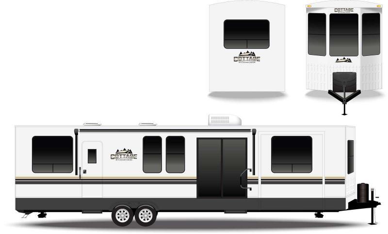 2022 Forest River Cedar Creek Cottage 40CCK Destination Trailer RV