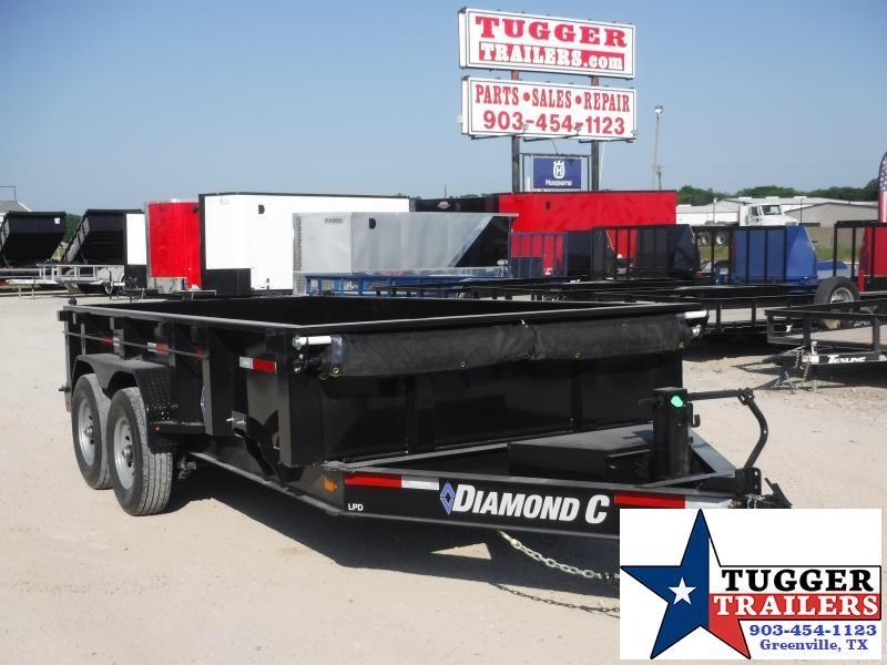 2020 Diamond C Trailers 82x14 14ft Steel Heavy Duty Construction Farm Dump Trailer