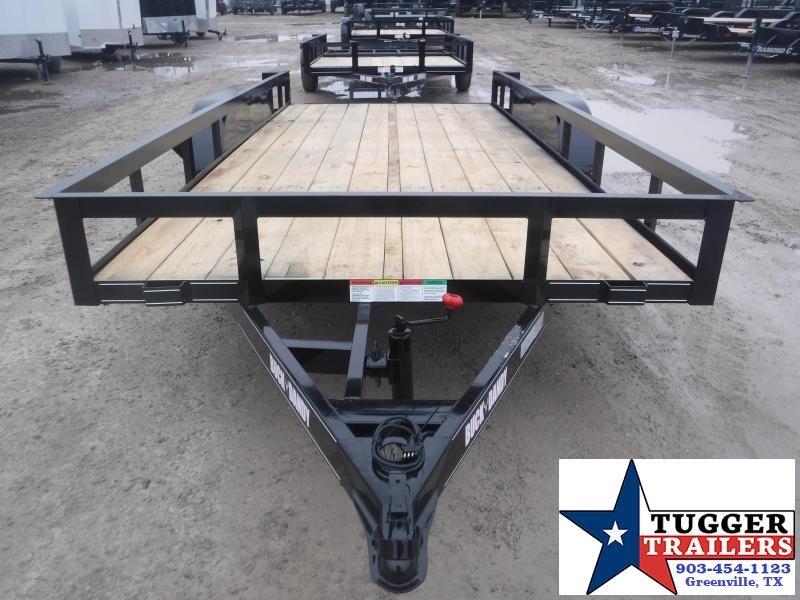 2021 Buck Dandy 77x16 16ft Open Tool Work Lawn Mow Side Toy Farm Utility Trailer