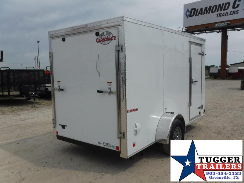 2021 Cargo Mate 6x12 12ft Utility Move Toy Sport Tailgate Enclosed Cargo Trailer