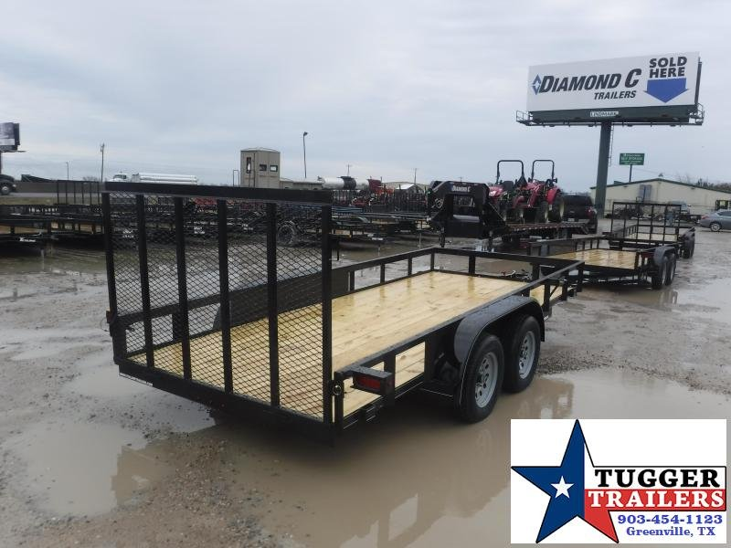 2021 TexLine 77x16 16ft Open Side Move Tool Lawn Mow Utility Trailer
